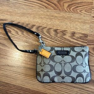 Coach Signature Canvas Wristlet